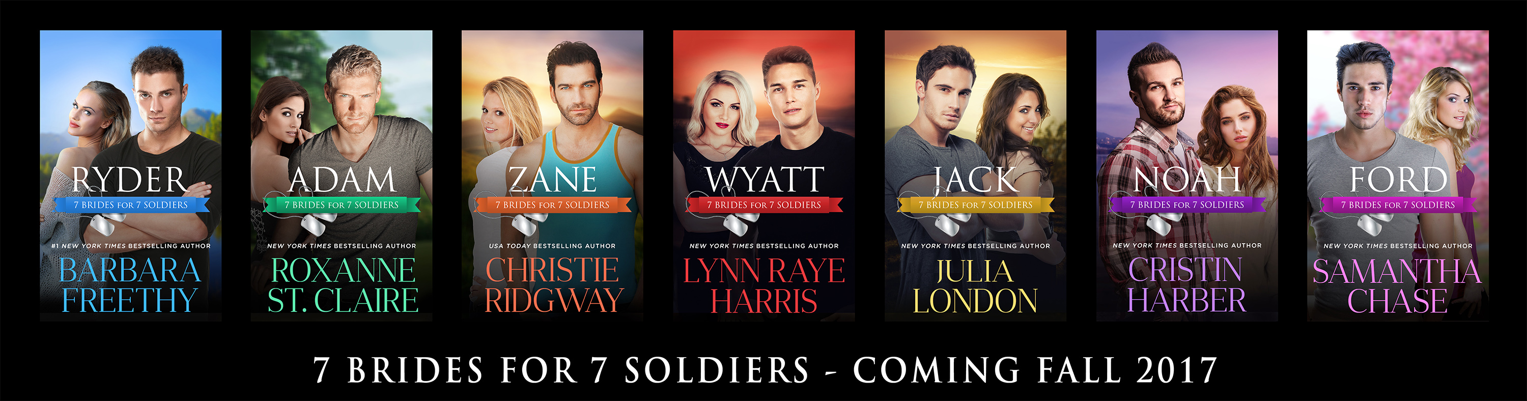 7 Brides for 7 Soldiers series cover reveal